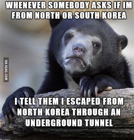 As a South Korean living in America, I Get asked this a lot. Sometimes I like to f**k with people.