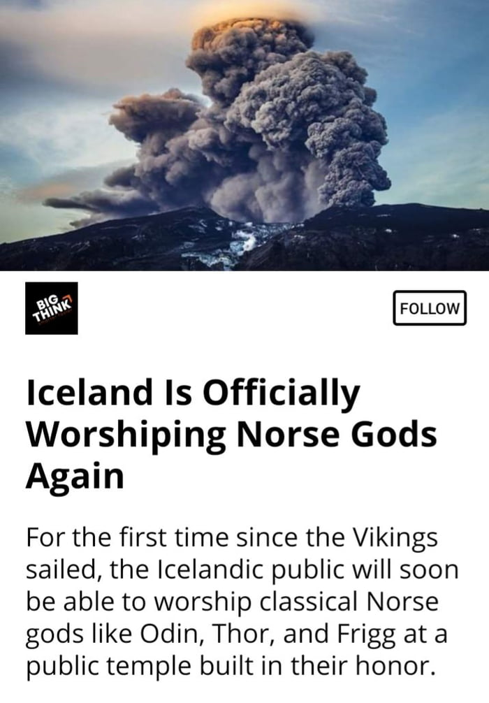 As Faroese people i feels lil shame,all these times those Icelanders worshipping the wrong Gods.