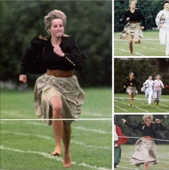 Princess Diana broke the royal rules for her son Willian by taking part in the Mothers Day running race at her son's school, and she won