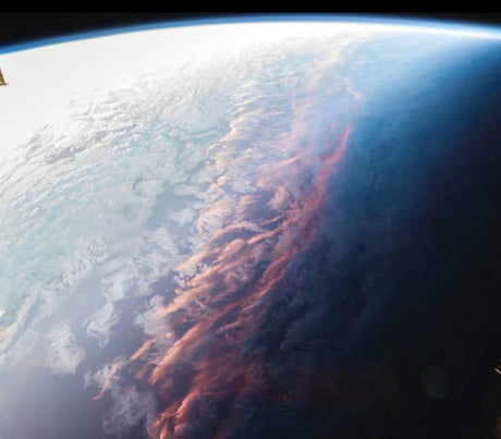 This is what sunset looks like from space
