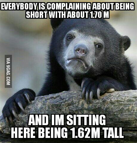 As a man, it's really hard to be short.