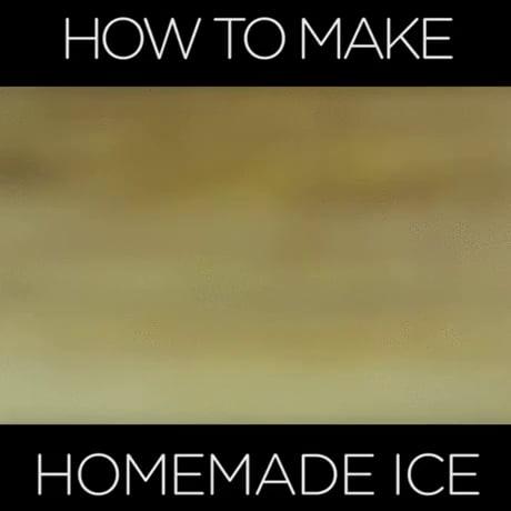 How to make homemade ice - Video | Gif-Vif