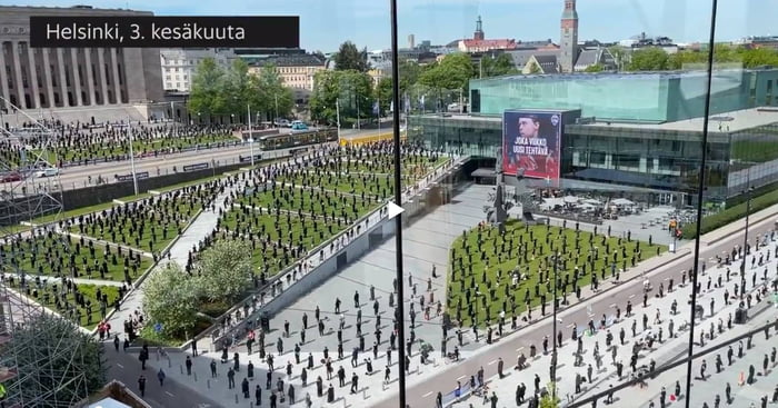 This is how finns protest during global pandemic