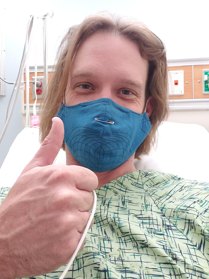 Getting hooked up for heart surgery round 2! Send me the good vibes internet strangers!