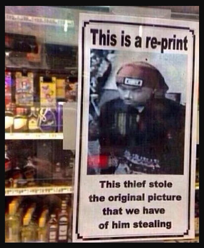 Stealing The Sign Reporting Your Shoplifting