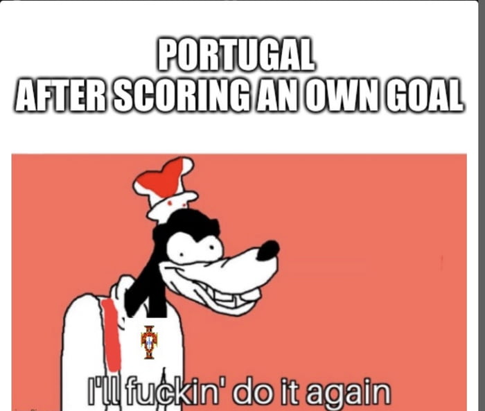 Portugal scored 3 goals in the first half