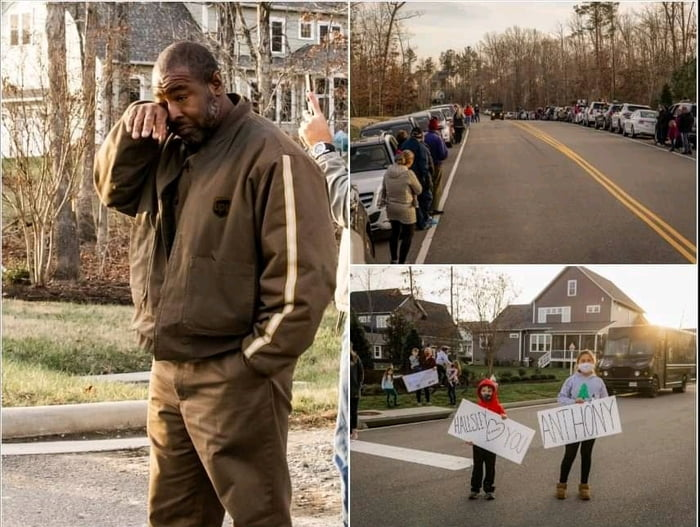 A UPS driver went above-and-beyond this year, delivering nearly 200 packages a day through COVID lockdowns and the flurry of the Holiday season. This week, hundreds of neighbors came out to give him a hero's salute