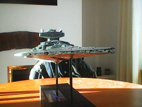 How would you guys rate the Star Destroyer kit that I built? 2 ft long and lights up at night! #foreversingle