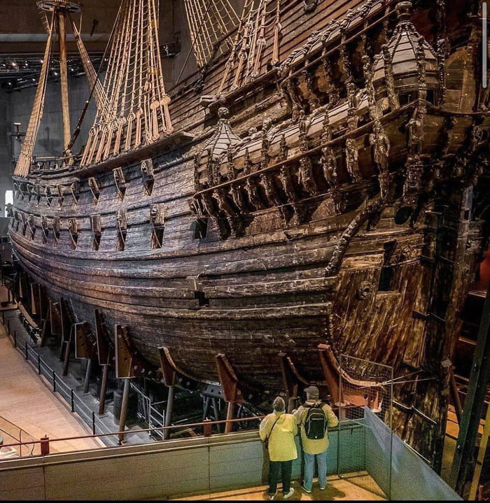 The Vasa ship capsized and sank in Stockholm in 1628. After over 330 years on the sea bed, the warship was salvaged and the Vasa Museum built around the only completely intact and best-preserved 17th-century ships in existence