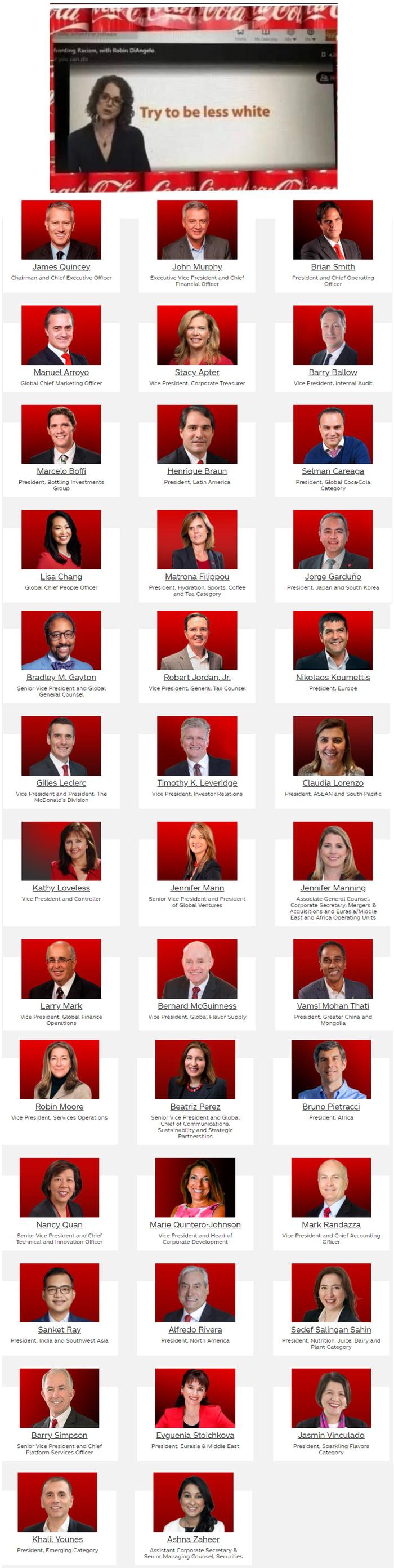 Coca Cola Executive Leadership