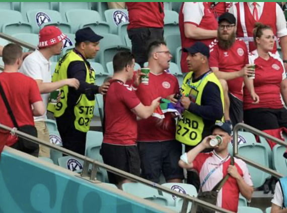 Fan thrown out of stadium (Azerbaijan) mid-game for having a rainbow flag