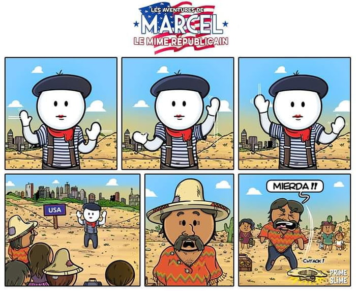 The adventures of Marcel, the Republican mime