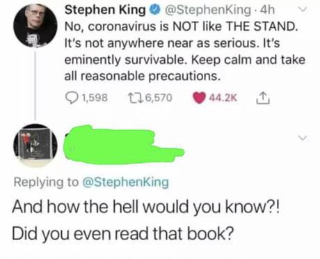 Do some reading Stephen King!
