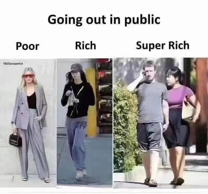 Poor vs super rich