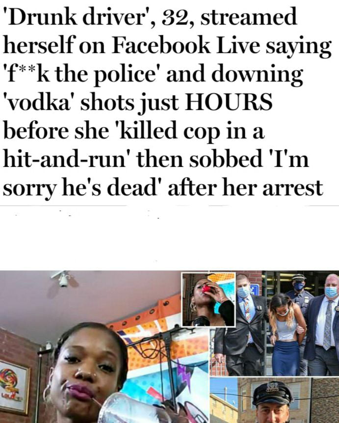 Brave till she was caught.