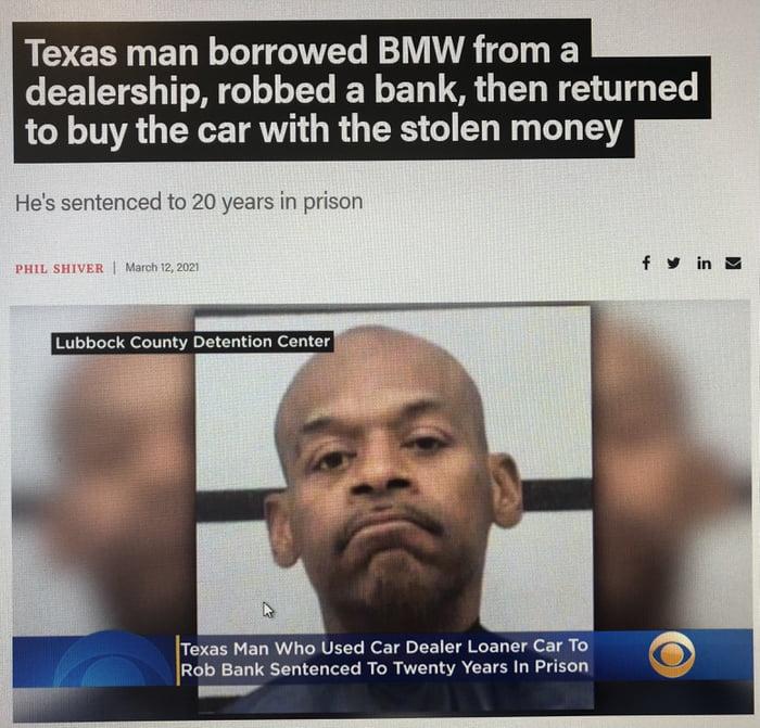 Texas Man trying to outdo Florida Man