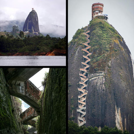 You have to climb 740 steps to reach this Colombian observation tower