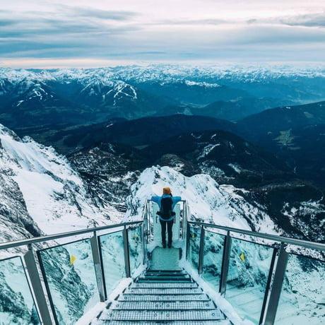 """Stairs to nowhere"",Dachstein,Austria"
