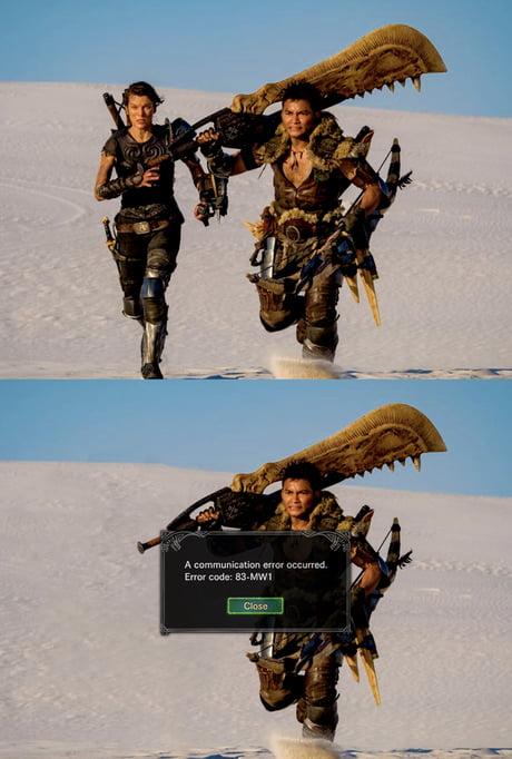 monster hunter movie meme