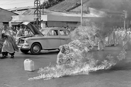 Buddist monk who burned himself to death in 1963