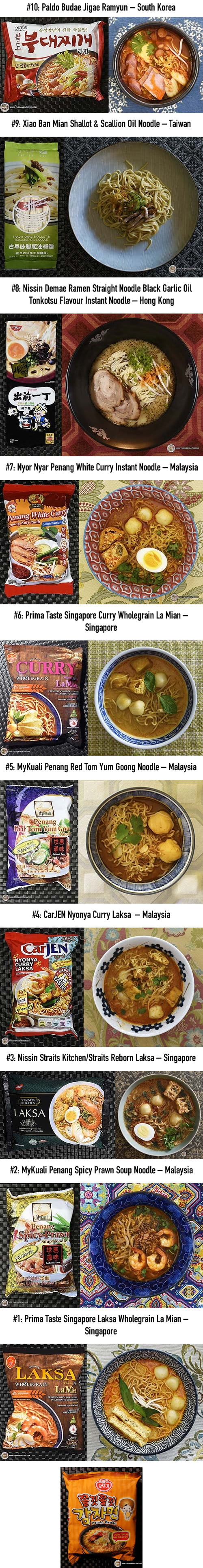 Top 10 Tastiest Instant Noodles That Make You Drool - 2017 Edition