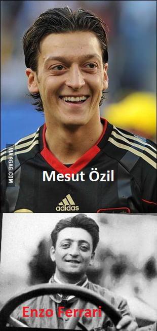 Mesut özil Looks Like Enzo Ferrari 9gag