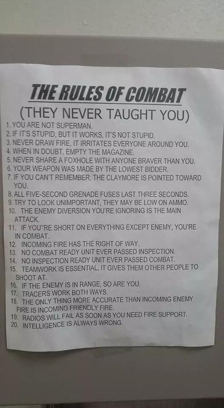 Rules of Combat