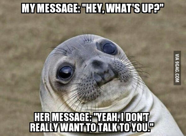She posted a status 15 minutes earlier saying she wanted people to talk to her.