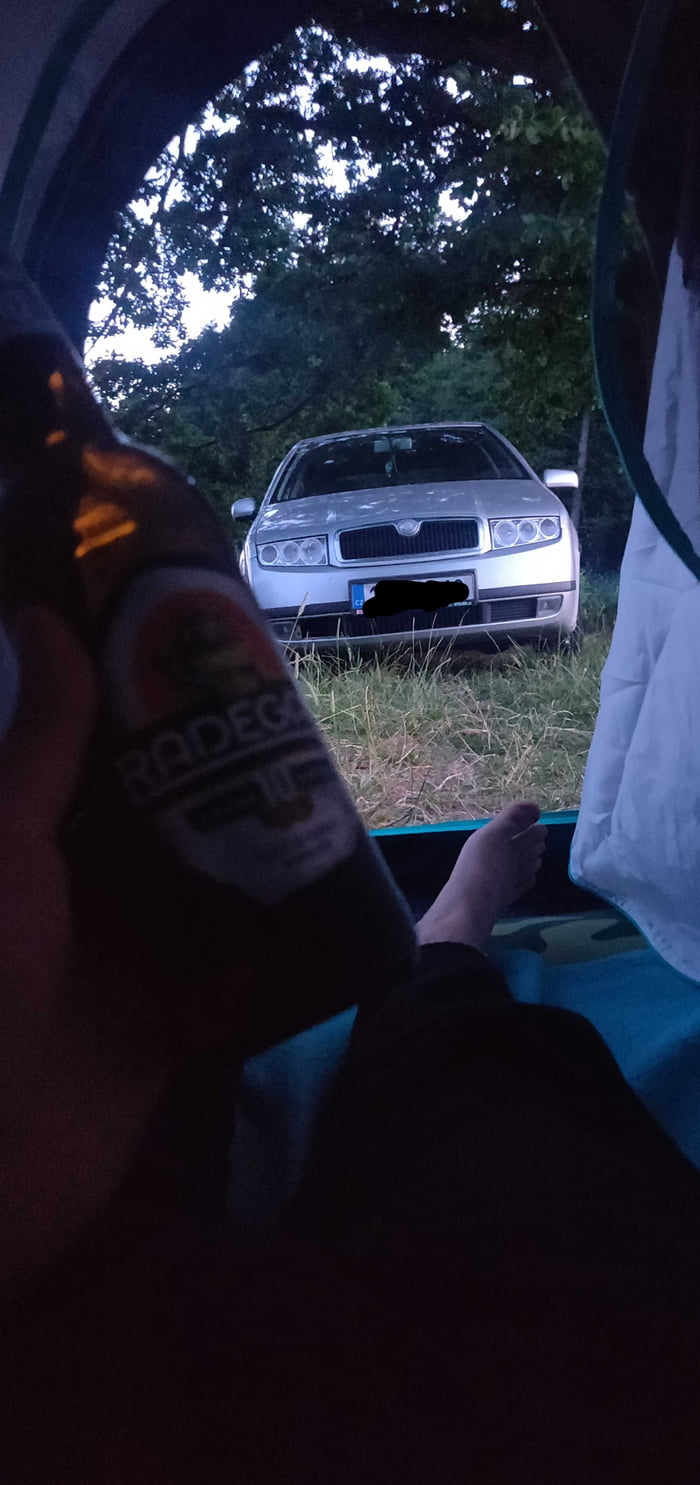 I've never done this before. So I took days off work just to travel around my country. First time building a tent and it worked out just fine. Cheers guys.