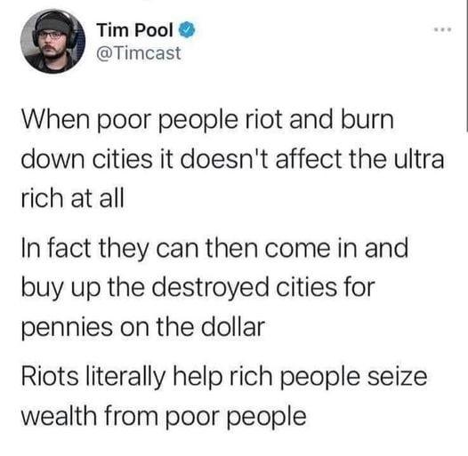 Poor people riot