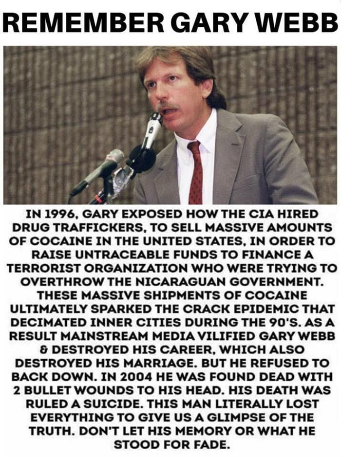Exposing the CIA is a great way to get suicided. Thanks Gary
