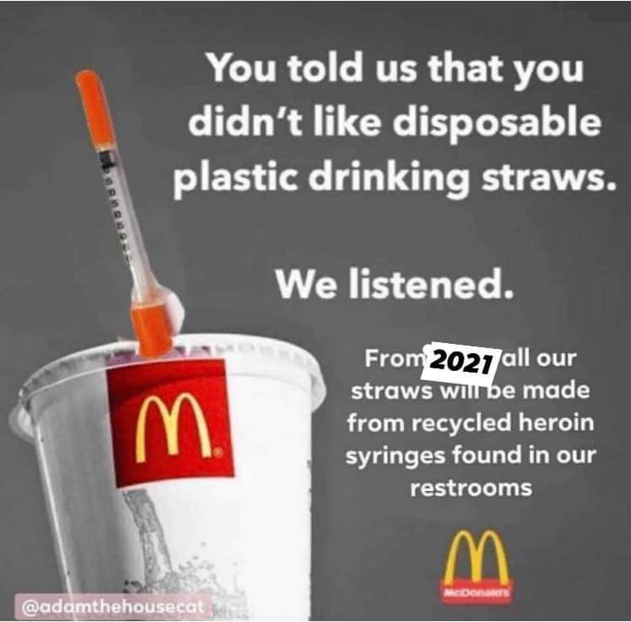 Better than those terrible paper straws.