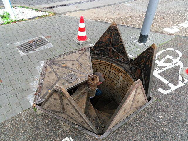 Manhole cover in Wiesbaden, Germany