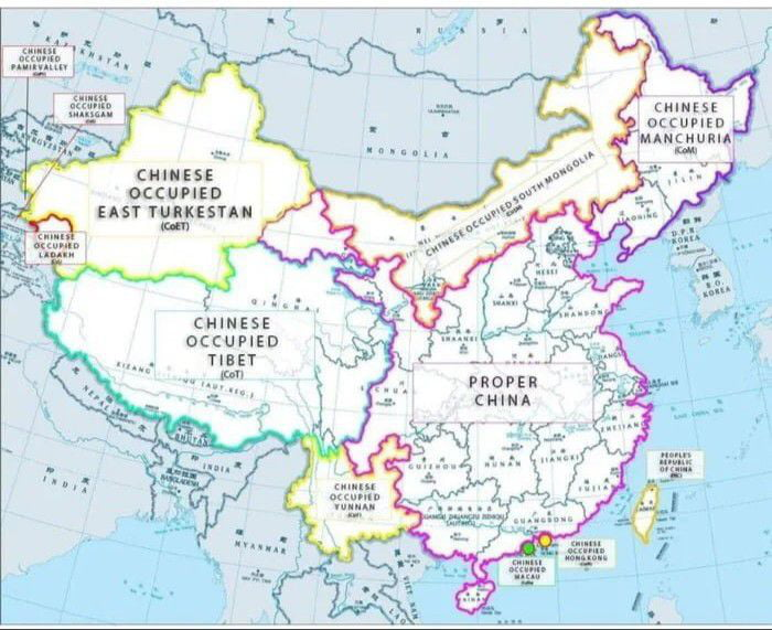 Indian media releases the real map of China
