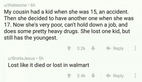 Lost her kid