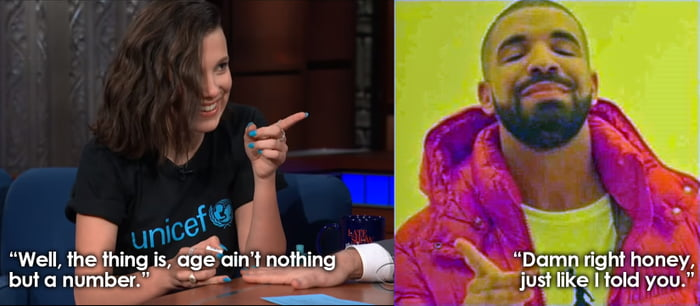 Telling Drake's advice to Stephen Colbert