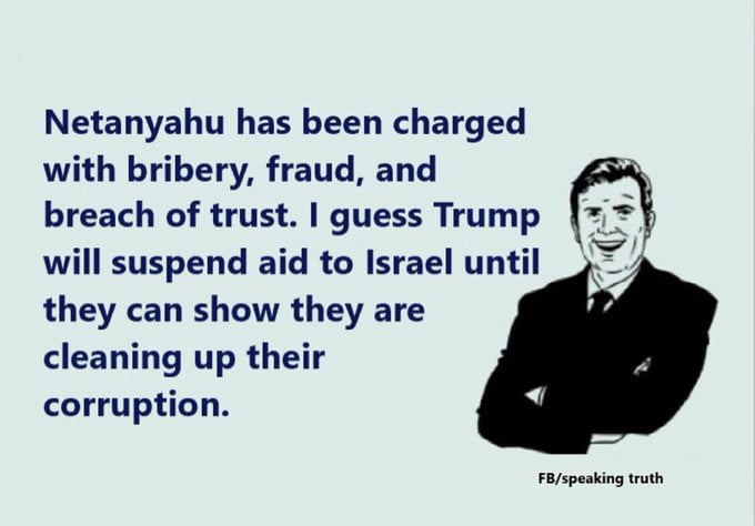 Netanyahu has been charged...