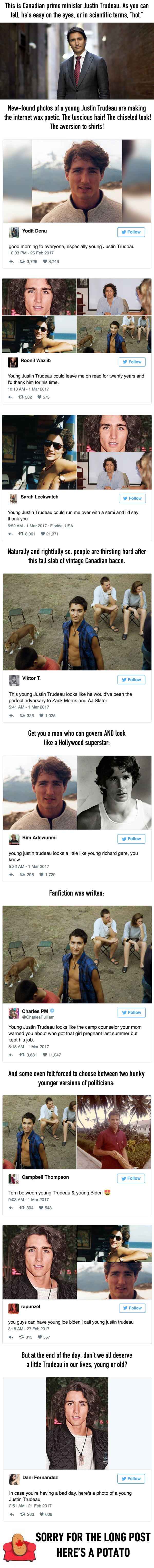 People Are Shook Over How Hot Young Justin Trudeau Was