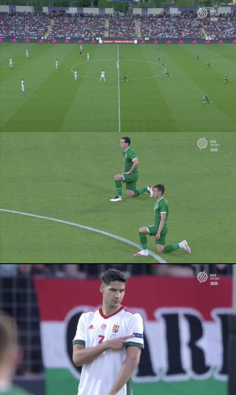 Yesterday the Hungarian national team refused to take the knee for BLM with the Irish national team the Hungarian fans started booing when they saw the Irish team kneeling