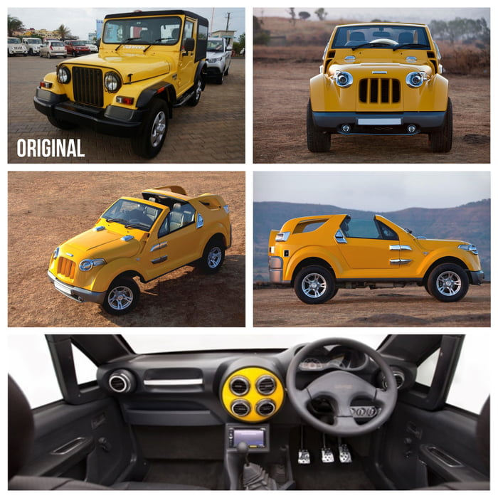 Indian car designer customizes Jeep Clone (Mahindra Thar)
