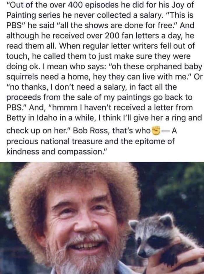 Bob Ross.