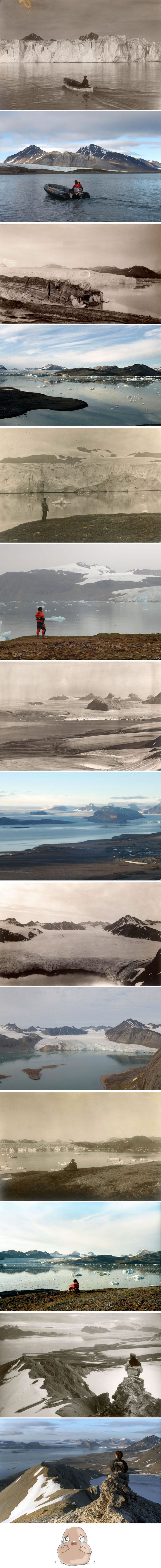 7 Shocking photos reveal what 100 years climate change had done to arctic glaciers