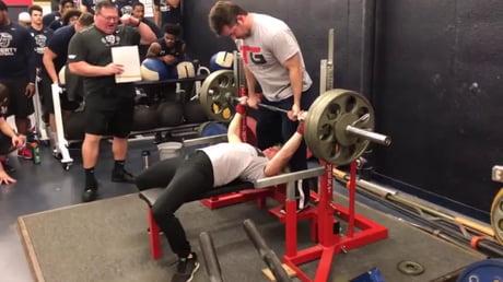 325 Pound Bench Press - 138 Pound Girl