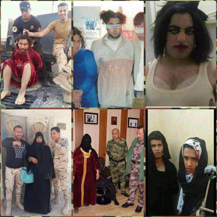 Photos released by the Iraqi police show ISIS fighters in women's clothes.