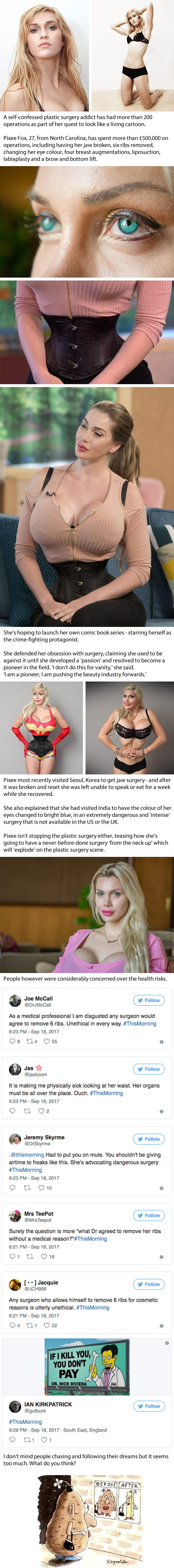Woman Removes Six Ribs To Look Like Wonder Woman And Claims: 'I Don't Do This For Vanity'
