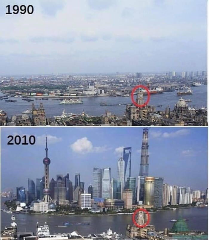 Shanghai 20 years difference