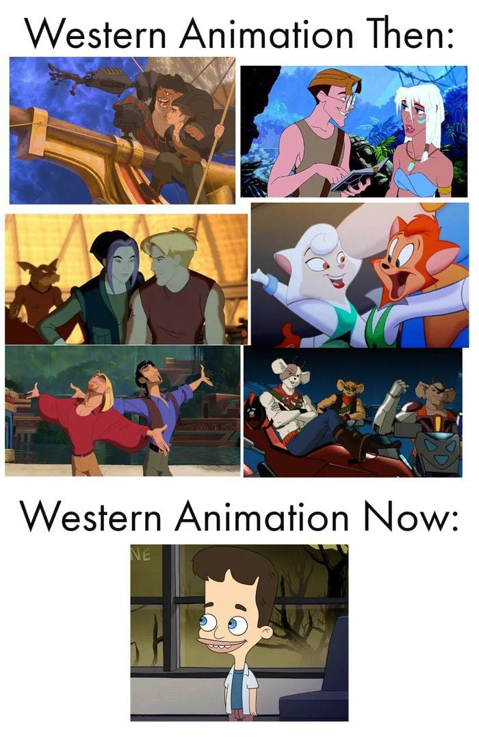 How times change!! We are evolving just backwards... can we go back to old animation???