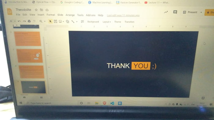 Nice way to end presentation