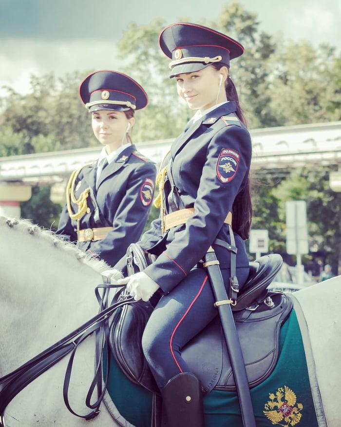 Policial russo montado