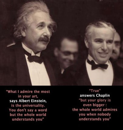 Awesome When Albert Einstein and Charlie Chaplin meet